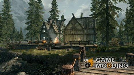 Дом на берегу озера для TES V Skyrim