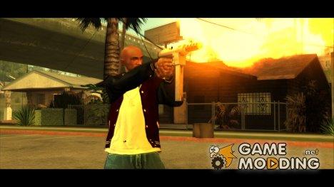 Стандартное оружие с графическими изменениями 2.0 для GTA San Andreas