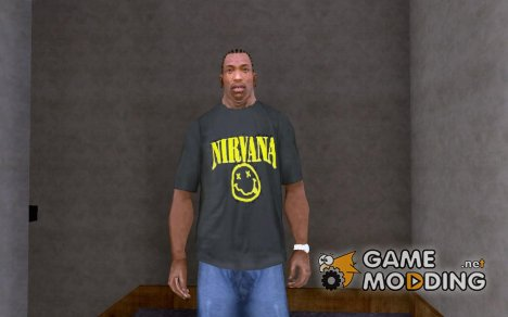 Футболка Nirvana for GTA San Andreas