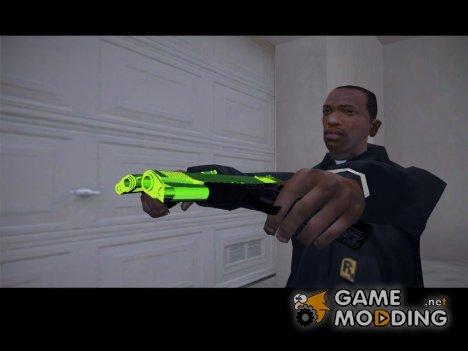 Colt 45 chrome green for GTA San Andreas