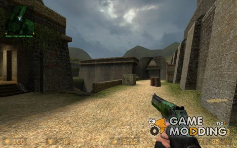 Two-tone Jungle Camo Deagle for Counter-Strike Source