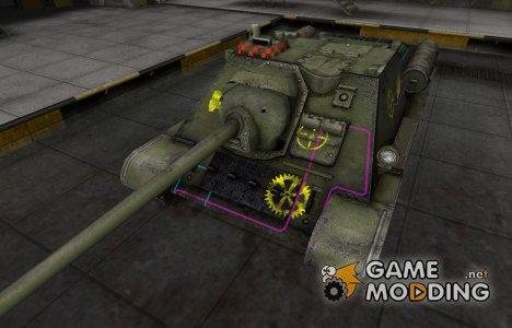 Контурные зоны пробития СУ-85 для World of Tanks