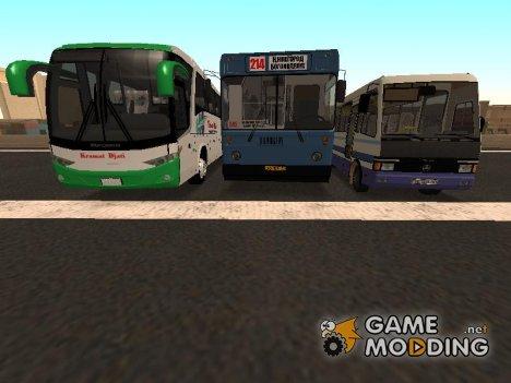 Сборник автобусов и микроавтобусов для GTA San Andreas