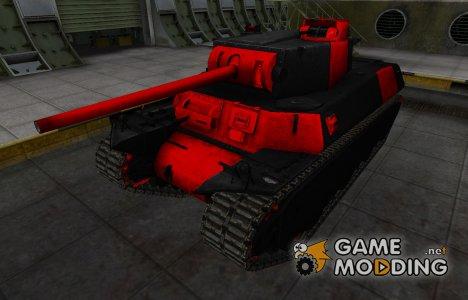 Черно-красные зоны пробития T1 Heavy для World of Tanks