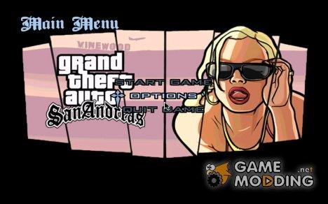 HD меню и загрузочные экраны в стиле GTA SA Mobile v2 for GTA San Andreas