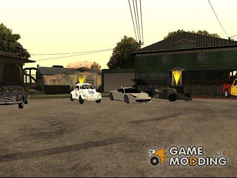 Пак машин из к\ф Голливуд для GTA San Andreas
