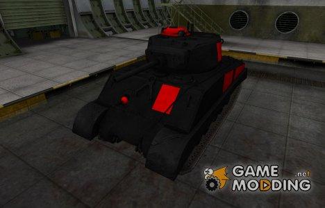 Черно-красные зоны пробития M4A3E2 Sherman Jumbo для World of Tanks