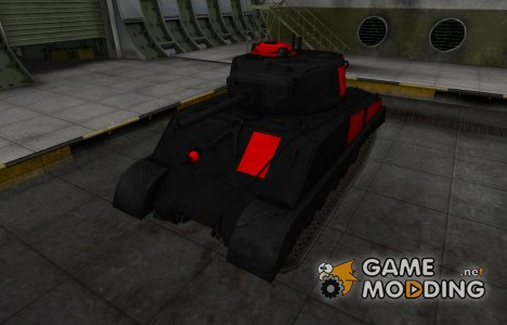 Черно-красные зоны пробития M4A3E2 Sherman Jumbo for World of Tanks