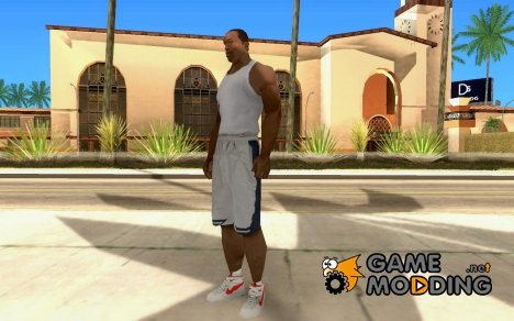Nike Air Force 1 rot для GTA San Andreas