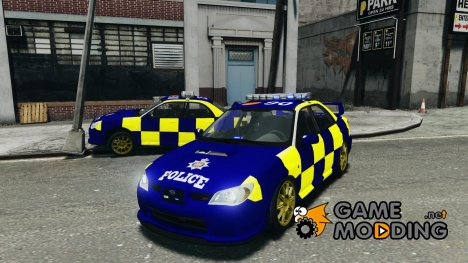 Subaru Impreza British ANPR(Automatic Number Plate Recognition) for GTA 4