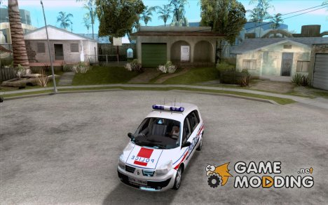 Renault Scenic II Police for GTA San Andreas