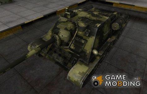 Камуфлированный скин для СУ-85 for World of Tanks