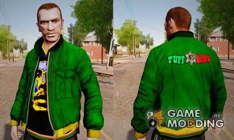 Зелёная куртка с футболкой Боба Марли для GTA 4