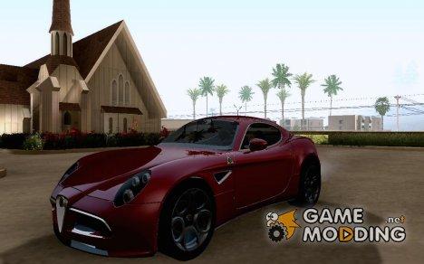 Alfa Romeo 8C Competizione for GTA San Andreas