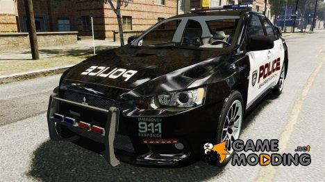 Mitsubishi Evo-X Cop для GTA 4