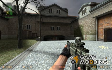 Battlefield2 AKS-74U - For SiG552 для Counter-Strike Source