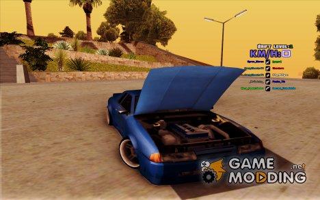 Elegy drift korch by RandyUnlimited v0.2 для GTA San Andreas
