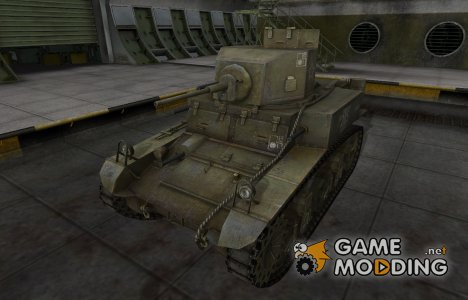 Скин с надписью для М3 Стюарт для World of Tanks