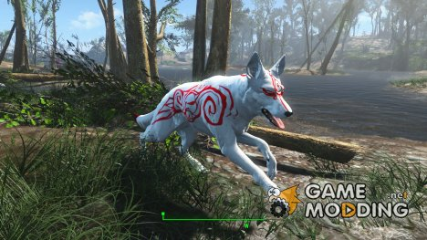 Okami Dogmeat Retextures for Fallout 4