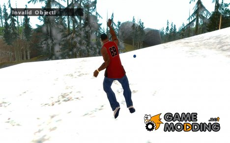 Бросить снежок for GTA San Andreas