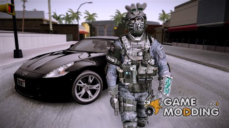 CoD Custom Ghost Retextured for GTA San Andreas