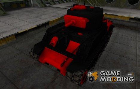 Черно-красные зоны пробития M4A2E4 Sherman для World of Tanks