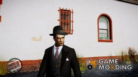 Вито из Mafia II в черном костюме for GTA 4