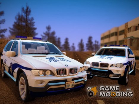 Bmw X5 E53 China Police for GTA San Andreas