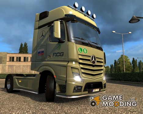 Скин для Mercedes Actros2014 (RCG) для Euro Truck Simulator 2