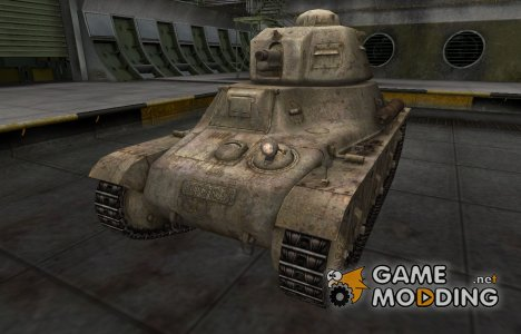 Пустынный французкий скин для Hotchkiss H35 для World of Tanks