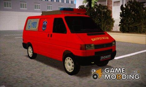 Volkswagen T4 Kombi Vatrogasci для GTA San Andreas