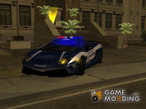 Lamborghini Gallardo LP 570-4 2011 Police v2 for GTA San Andreas