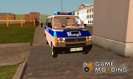 Volkswagen Transporter T4 USSR Police для GTA San Andreas