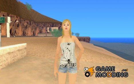 Новый скин девушки for GTA San Andreas