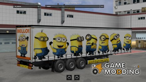 Minions trailer for Euro Truck Simulator 2