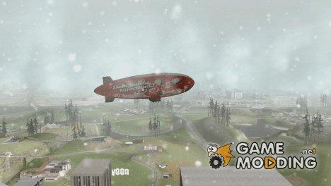 Дирижабль из GTA V над Лос Сантосом for GTA San Andreas