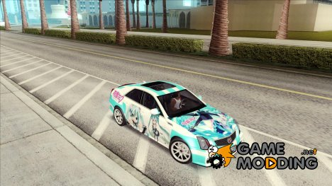Cadillac CTS-V Sedan 2009 - Miku Hatsune Itasha for GTA San Andreas