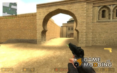Dark Colt M1911 Green Laser для Counter-Strike Source