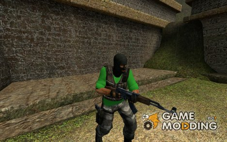 Green T-Shirt Terrorist. для Counter-Strike Source