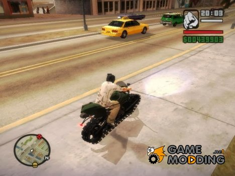 Panzercycle From Mercenaries 2 World in Flames для GTA San Andreas