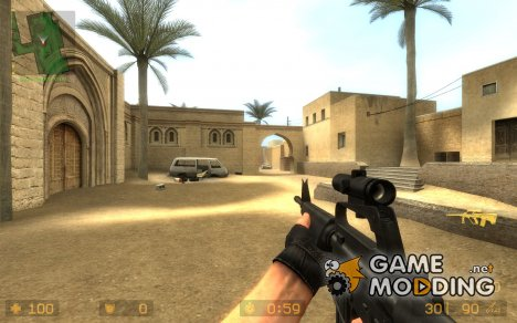 Scoped M16 для Counter-Strike Source
