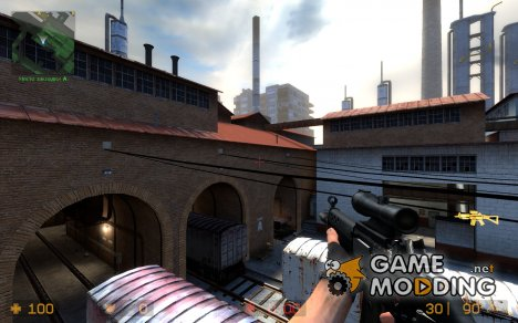 Chrome Sg552 for Counter-Strike Source