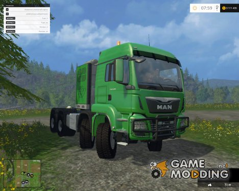 MAN TGS 41.480 SZM 8×8 V 5.1 for Farming Simulator 2015