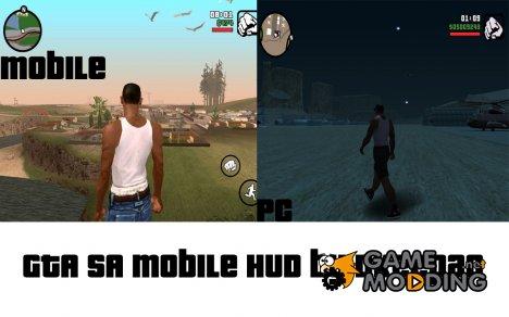 GTA SA Mobile HUD v1.0 для GTA San Andreas