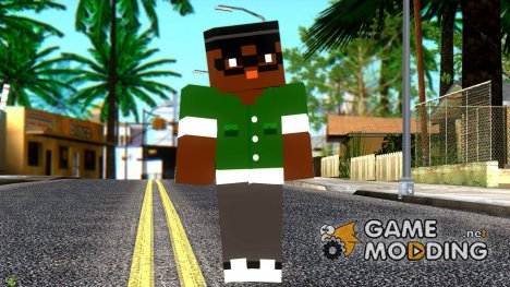 Bigsmoke Minecraft Skin for GTA San Andreas
