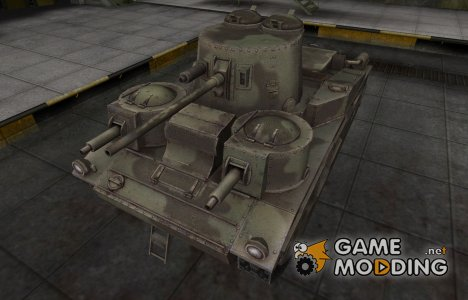 Пустынный скин для Vickers Medium Mk. III for World of Tanks
