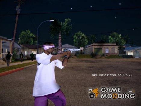 Realistic pistol sound V2 для GTA San Andreas
