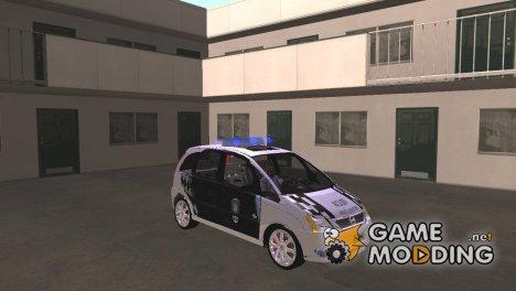 Chevrolet Meriva Patrullero de la Policia Metropolitana for GTA San Andreas