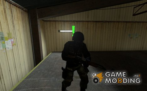 Terrorist w/gasmask and helmet for Counter-Strike Source