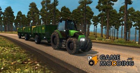 Трактор с прицепом for Euro Truck Simulator 2